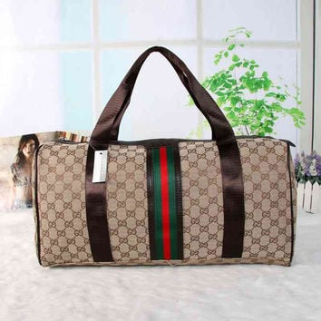 Gucci Women Fashion Luggage bag Leather Shoulder Bag Satchel Handbag