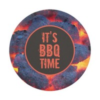 It's BBQ time paper plate