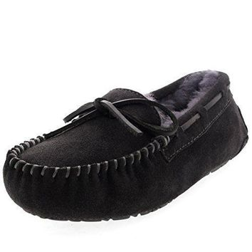 Womens Moccasins Real Suede Loafers Slippers uggs for women
