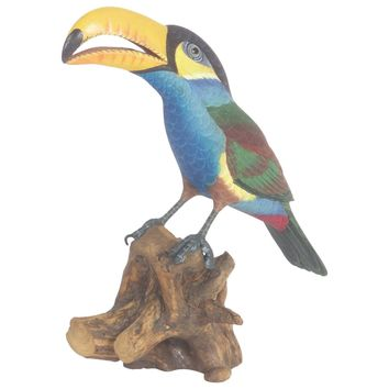 Carved and Painted Wood Toucan