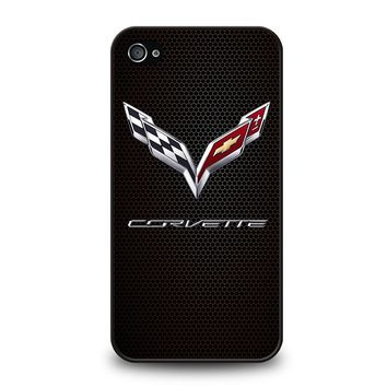 CORVETTE CHEVY ON HEXAGON CARBON iPhone 4 / 4S Case Cover