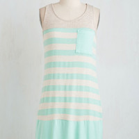 Short Length Sleeveless Shift Pool Out all the Stops Dress by ModCloth