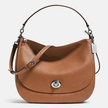 Perfect Coach Women Shopping Leather Tote Crossbody Satchel Shoulder Bag