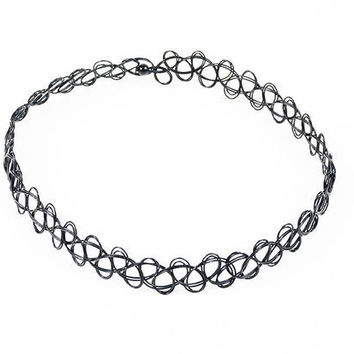 Womens Girls Tattoo Choker Black Necklace Gift + Free Shipping