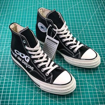 COMME des GARÇONS CDG x Converse Chuck Taylor All Star Black White Mid Sneakers - Best Online Sale