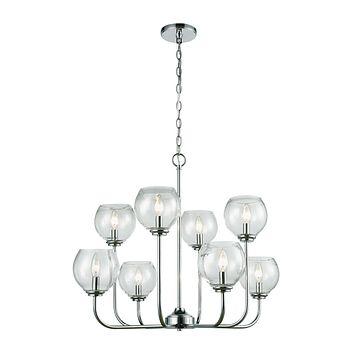 Emory 8 Chandelier Polished Chrome
