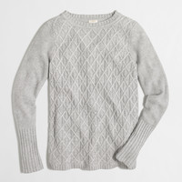 Factory cable-knit tunic sweater
