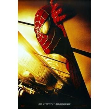 Spiderman Movie poster Metal Sign Wall Art 8in x 12in