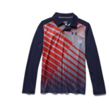 Under Armour Boys' UA Path Long Sleeve Polo
