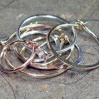 Endless Hoop Stacked Earrings Made Affordable by AviationJewelry