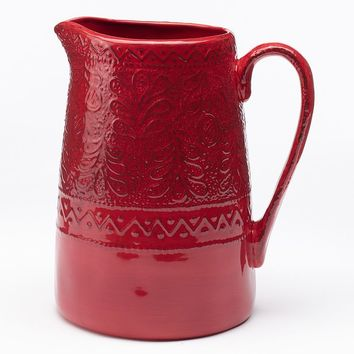 Bobby Flay Pamplona Pitcher (Red)