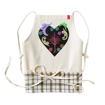 beautiful art zazzle HEART apron