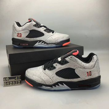 """Nike Air Jordan 5"" Men Casual Small Air Cushion Basketball Shoes Fashion Plate Shoes Sneakers"