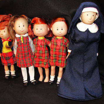 "8"" Madeline Doll and Friends, 5 Dolls, Eden Toys"