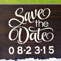Save The Date Personalized Wood Painted Sign, Wedding Engagement Photo Prop Sign, Wedding Engagement Announcement Sign, Wedding Decor Sign