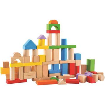 80-Piece Wood Block Set - Walmart.com