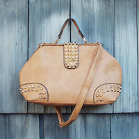 Studded Dusk Tote in Toffee