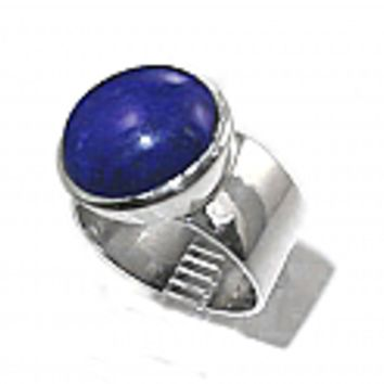 Sterling Silver Round Cabochon Ring