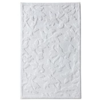 Threshold™ Silhouette Floral Bath Rug - White