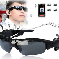 Wireless Bluetooth V2.1 Sunglasses Headset Headphones For iPhone Samsung AP = 1652216324