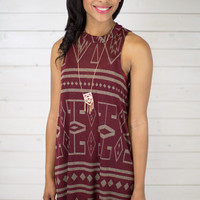 Aztec Knit Dress