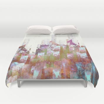 Dead cities Duvet Cover by HappyMelvin