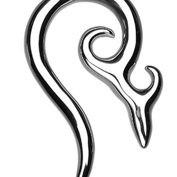 Devil's Horn 316L Surgical Steel Ear Gauge Spiral Hanging Taper