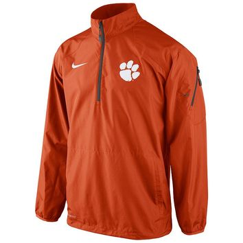 Nike Clemson Tigers Lockdown Half-Zip Storm-FIT Performance Jacket - Men
