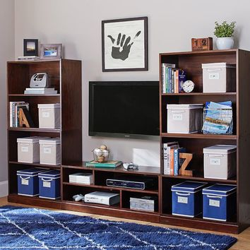 Stack Me Up Tall Media Bookcase Super Set