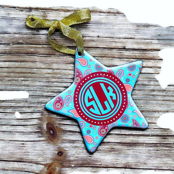Christmas ornament, personalized christmas ornament, porcelain ornament, tree ornament, stocking stuffer, holiday ornament, photo gift