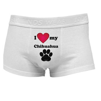 I Heart My Chihuahua Mens Cotton Trunk Underwear by TooLoud