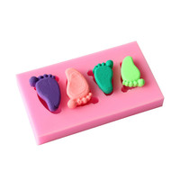 Cake Mold 1 pc baby foot cute Silicone Mold Chocolate Fondant Cake Decorating Baking Tool Bakeware Pudding D399