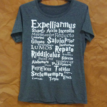 Harry Potter short sleeve crew neck tshirt women clothes/ teen girl clothing/ cute tees/ summer tops / sale size S M L XL