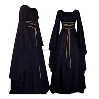 Medieval Dress Women's Vintage Victorian Renaissance Gothic Costume Gown Dress