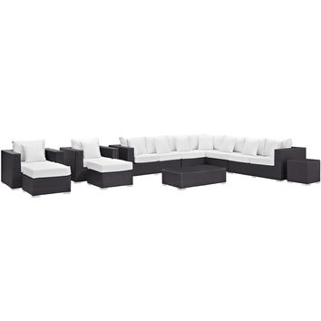 Convene 11 Piece Outdoor Patio Sectional Set