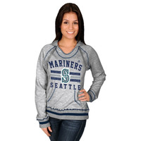 Majestic Seattle Mariners Women's All-Time Slugger Pullover Hoodie - Steel