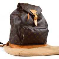 Auth [Good] LOUIS VUITTON Montsouris GM M51135 Backpack w/Dust Bag (Used) 55680