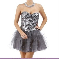 Kennalee-Charcoal Homecoming Dress