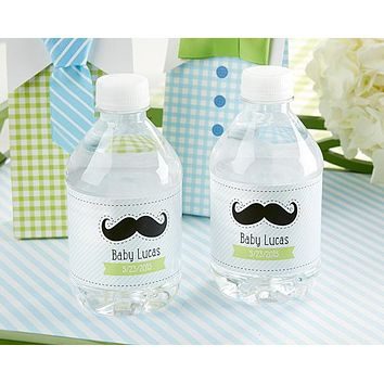 """Personalized Water Bottle Labels-Kate's """"Little Man"""" Collection"""