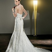 [$406.99 ]  Brilliant Tulle Strapless Sweetheart Neckline 2 In 1 Wedding Dress - Dressilyme.com