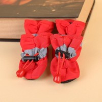 4pcs/set Small Pet Dog Shoes Suede Warm Non Slip Booties Puppy Cat Boots Sneaker Mediu