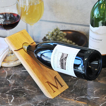 Personalized Counter Balance Wine Bottle Holder- wine connoisseur, housewarming, wedding gift, anniversary gift, birthday, Christmas