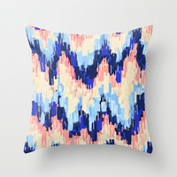 Rush (Blue) Throw Pillow by Jacqueline Maldonado