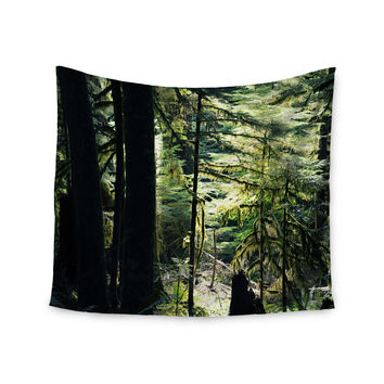 "Robin Dickinson ""Enchanted Forest"" Green Wall Tapestry"