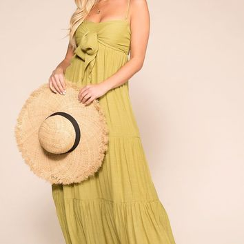 Beachside Lime Maxi Dress