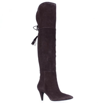 Nine West Josephine Over-The-Knee Boots, Dark Brown, 7 US