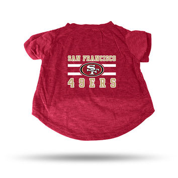 49ERS RED PET T-SHIRT - LARGE