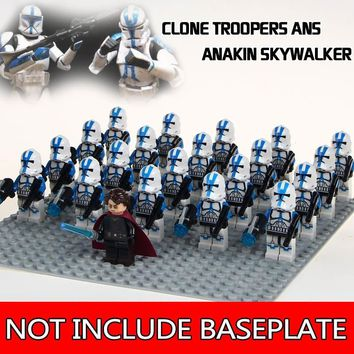 Star Wars Force Episode 1 2 3 4 5 WM1171 Building Blocks 21pcs/lot Legoings  Clone Troopers Anakin Skywalker Stormtroopers  Toys for Children AT_72_6