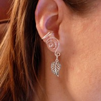 Pair Of Silver Plated Ear Cuffs Wit.. on Luulla