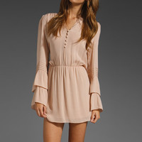 PARKER Flared Sleeve Dress in Shell at Revolve Clothing - Free Shipping!